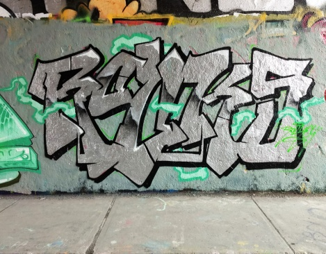 Rouks at the Rouen legal graffiti wall