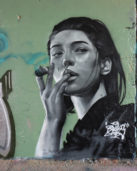 Rouks at the Rouen legal graffiti tunnel