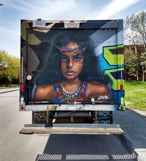 back of truck by Rouks for the 2019 edition of Hip Hop You Don't Stop