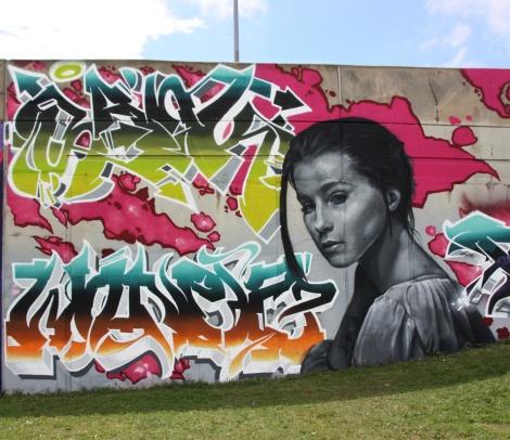 Sank (top letters), Wonez (bottom letters) and Rouks (woman) for the Festival de Canes