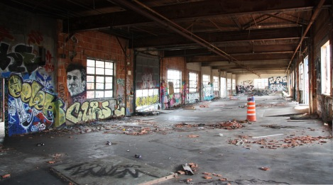 "general view of the long room of the western building at the abandoned ""Jailspot"""
