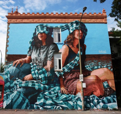 Fintan Magee's contribution to the 2017 edition of Mural Festival
