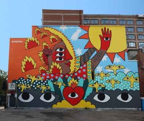 Ricardo Cavolo's contribution to the 2017 edition of Mural Festival
