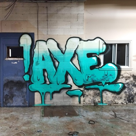 Axe in an abandoned place