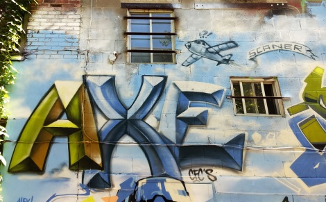 Axe's contribution to the tribute wall to Scan done for the 2019 edition of Mural