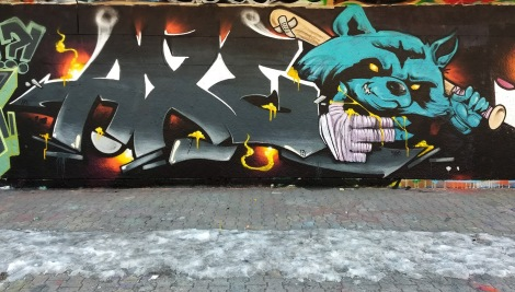 Axe at the PSC legal graffiti wall