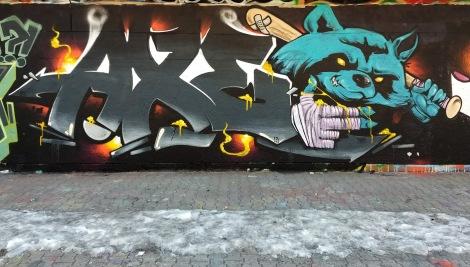 Axe at the PSC legal graffiti wall