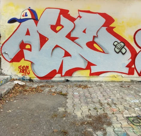 Axe Lalime at the PSC legal graffiti wall
