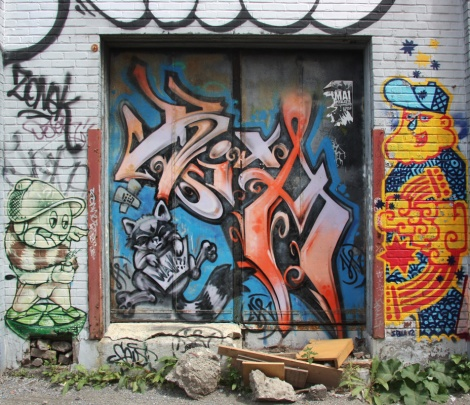 Axe (doors) and SBU One (right) in St-Henri