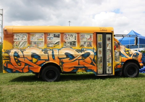 Fokus on bus side for the Festival de Canes
