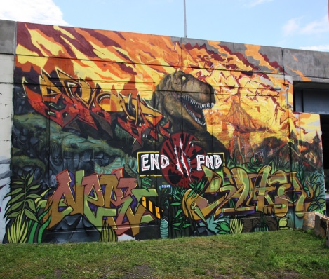 N2N wall for the Festival de Canes, featuring Acek, Janek, Arose and Nerv