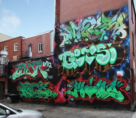 UNC wall for the 2017 edition of Under Pressure featuring Meor, Baesr, Getso, Rock and Mine