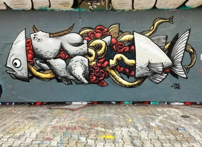 SBU One at the PSC legal graffiti wall