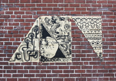 SBU One and MSHL collaboration wheatpaste