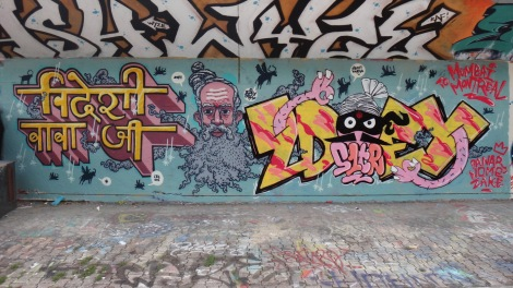 SBU One (left) and Zdey (right) at the PSC legal graffiti wall. Photo © SBU One.