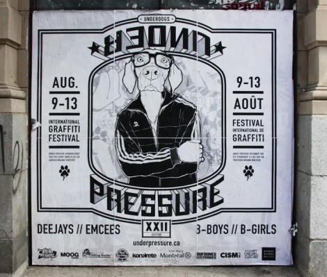 Haks and Jimmy Baptiste poster for the 2017 edition of Under Pressure