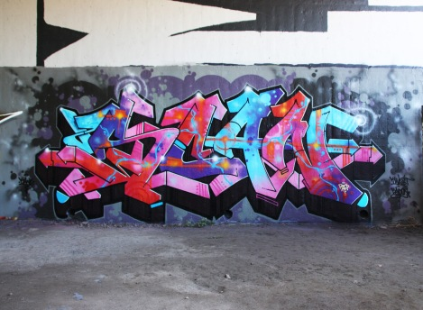 Tribute to Scaner by Kane at the Papineau legal graffiti wall