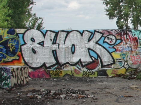 Shok throw in an empty lot