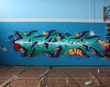 Shok in an abandoned school before it got demolished