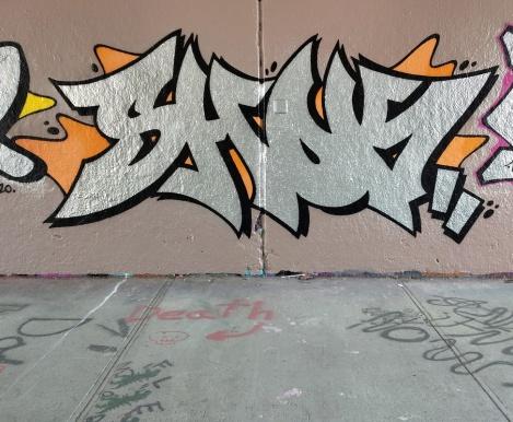 Shok at the Rouen legal graffiti tunnel