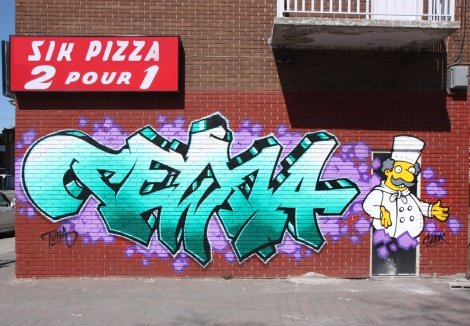 Tuna on letters and Shok on character, in Ahuntsic