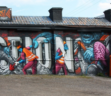 Botkin, Borrris, Arnold and Marc Sirus collab in St-Henri (detail)