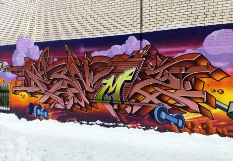 Cemz on a long tribute wall to Scaner also involving Stare and Zek