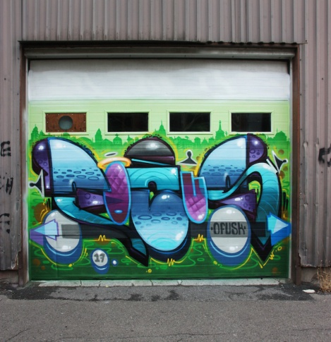 Fokus on a Hochelaga garage door