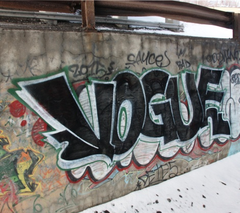 Vogue piece in industrial Montreal
