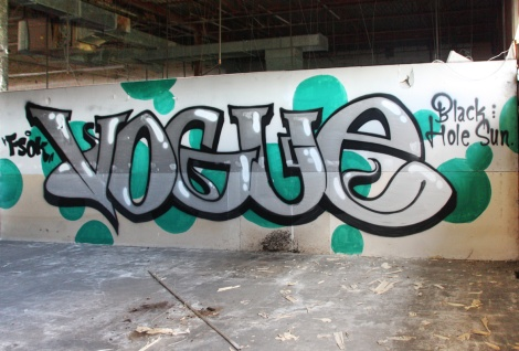 Vogue in an abandoned building