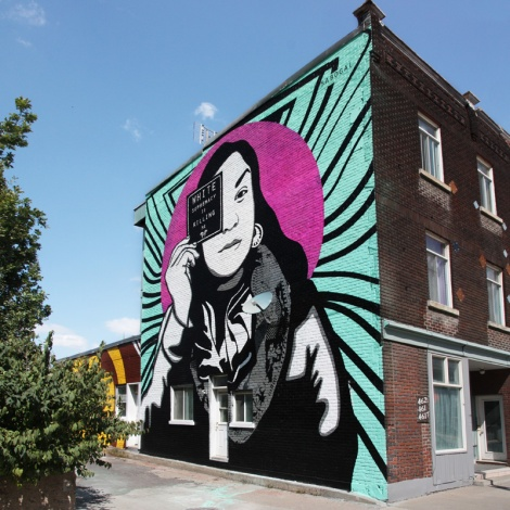 Jessica Sabogal for Unceded Voices in St-Henri