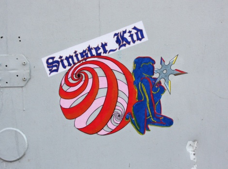 Sinister Kid paste-up