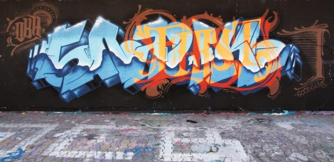 Snok at the PSC legal graffiti wall