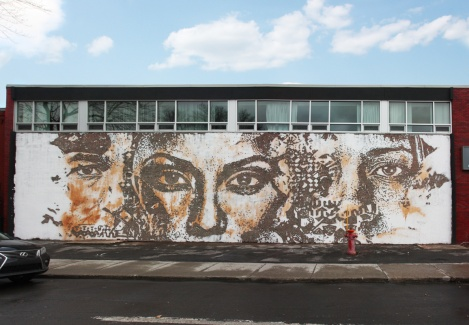 Vhils at Plaza Walls