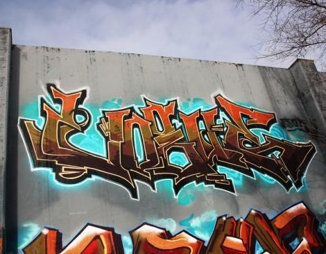 Vogue at the Lachine legal graffiti wall