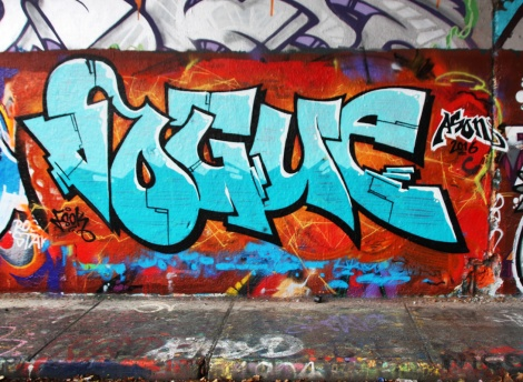 Vogue at the Rouen legal graffiti wall