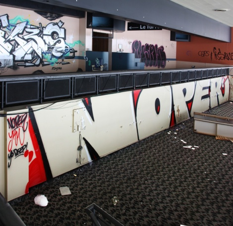 Noper at the Montreal Hippodrome's abandoned main building