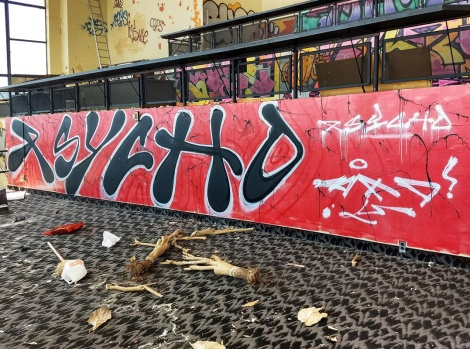 Psycho at the Montreal Hippodrome's abandoned main building