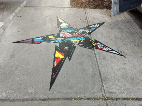 sidewalk piece by ASVP for the 2018 edition of Mural Festival