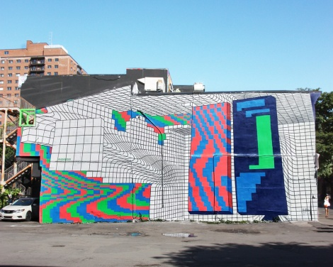 Demsky's contribution to the 2018 edition of Mural Festival