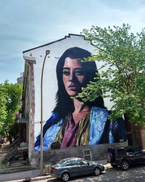 Drew Merritt's contribution to the 2018 edition of Mural Festival