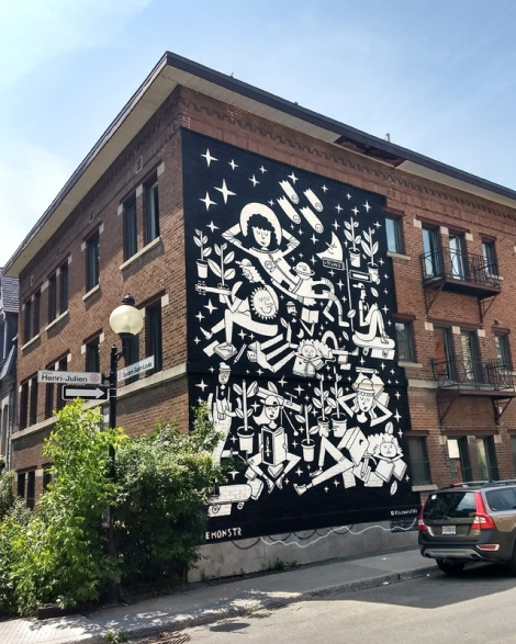 Le Monstr's contribution to the 2018 edition of Mural Festival