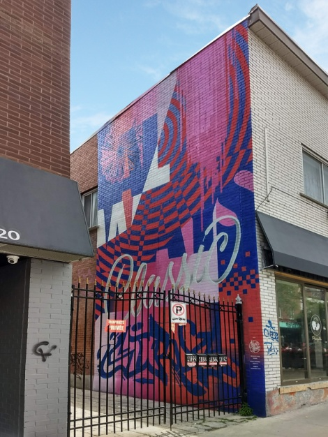 Marc Sirus's contribution to the 2018 edition of Mural Festival