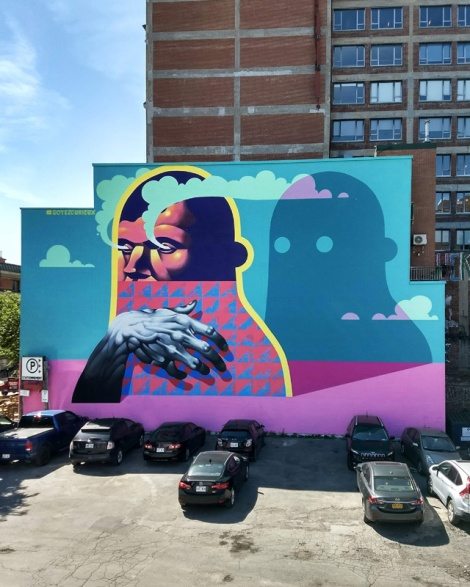 Michael Reeder's contribution to the 2018 edition of Mural Festival