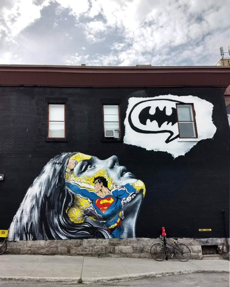 Sandra Chevrier's contribution to the 2018 edition of Mural Festival