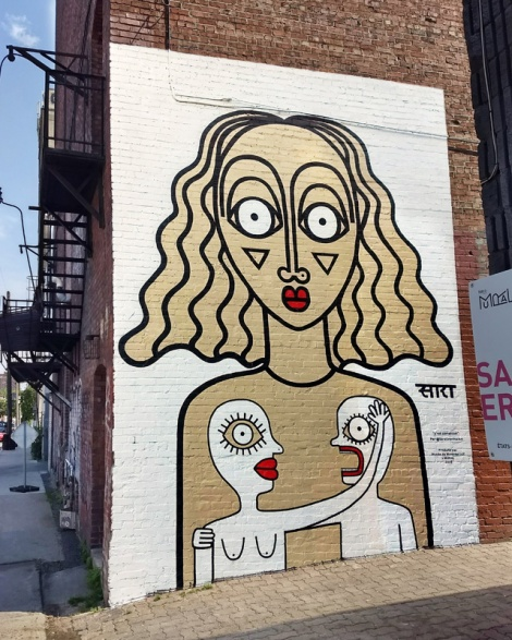 Sara Erenthal's contribution to the 2018 edition of Mural Festival