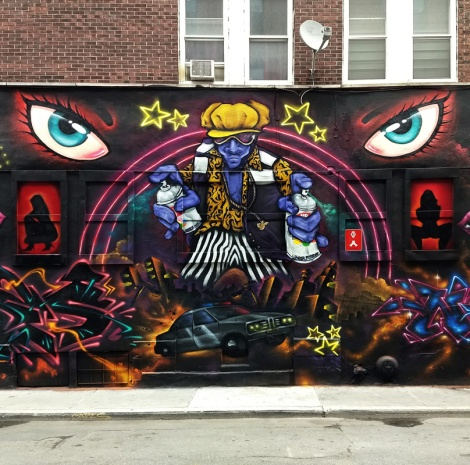 Segment 3/5 of a Under Pressure 2018 wall featuring Haks, Capes, Nemo, Lapin and Vedas