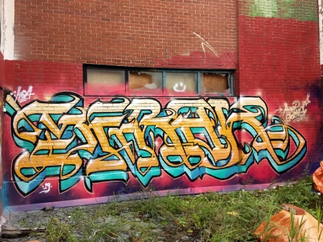 Serak on an abandoned building in St-Henri
