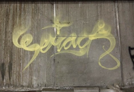 tag by Serak found in an abandoned building