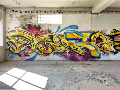 Eskro in an abandoned building